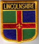 Lincolnshire Embroidered Flag Patch, style 07.